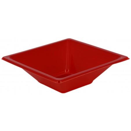 Bol de Plástico PS Cuadrado Rojo 12x12cm (1500 Uds)