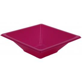 Bol de Plastico Cuadrado Fucsia 120x120x40mm (720 Uds)