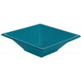 Bol de Plástico PS Cuadrado Turquesa 12x12cm (12 Uds)