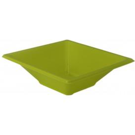Bol de Plástico PS Cuadrado Pistacho 12x12cm (25 Uds)