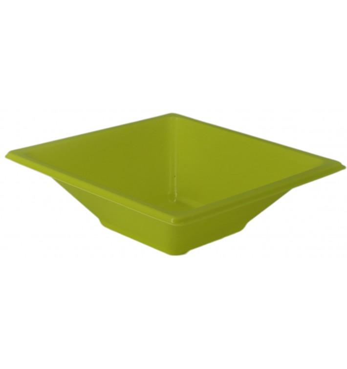 Bol de Plastico Cuadrado Pistacho 120x120x40mm (1500 Uds)
