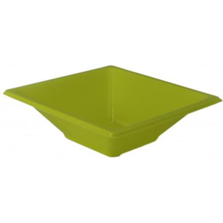 Bol de Plástico PS Cuadrado Pistacho 12x12cm (1500 Uds)