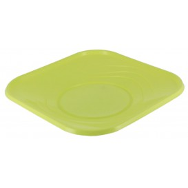 "Plato de Plastico PP ""X-Table"" Cuadrado Lima 180mm (8 Uds)"