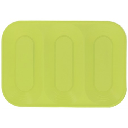 "Bandeja de Plastico PP ""X-Table"" 3C Lima 330x230mm (30 Uds)"