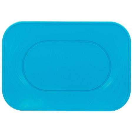 "Bandeja de Plastico PP ""X-Table"" Turquesa 330x230mm (2 Uds)"