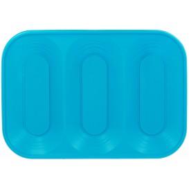 "Bandeja de Plastico PP ""X-Table"" 3C Turquesa 330x230mm (30 Uds)"