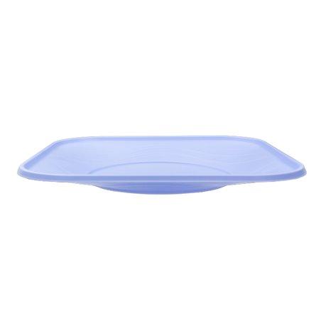 """Plato de Plastico PP """"X-Table"""" Cuadrado Violeta 230mm (120 Uds)"""