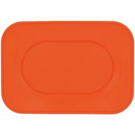 Bandeja de Plastico Naranja PP 330x230mm (2 Uds)