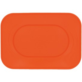 "Bandeja de Plastico PP ""X-Table"" Naranja 330x230mm (60 Uds)"
