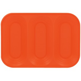 "Bandeja de Plastico PP ""X-Table"" 3C Naranja 330x230mm (30 Uds)"