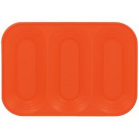 Bandeja de Plastico 3C Naranja PP 330x230mm (30 Uds)
