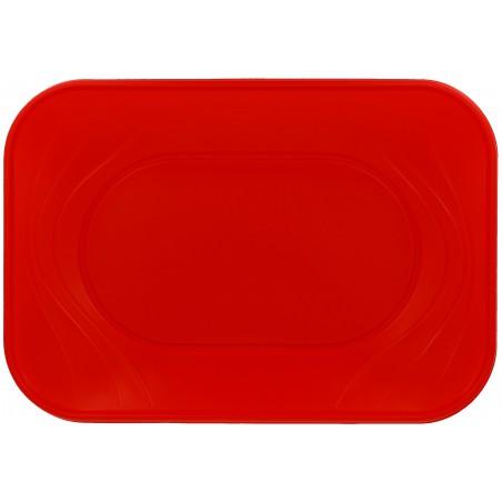 Bandeja de Plastico Rojo PP 330x230mm (2 Uds)