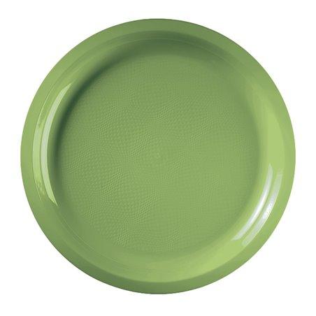 Plato de Plastico Verde Lima Round PP Ø290mm (300 Uds)