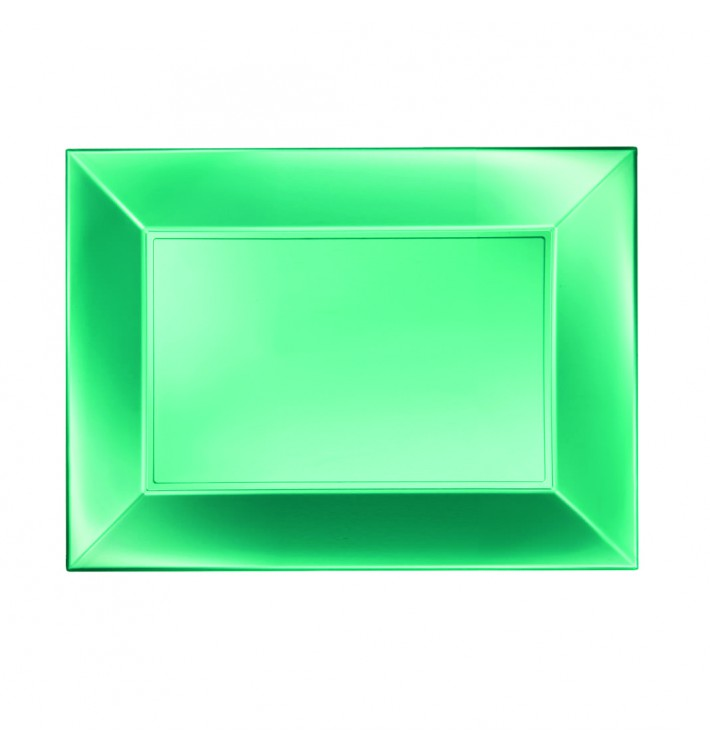 Bandeja Plastico Verde Nice Pearl PP 280x190mm (12 Uds)