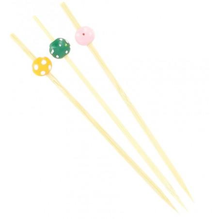 """Pinchos de Bambu """"Punteado"""" Surtido 120mm (200 Uds)"""