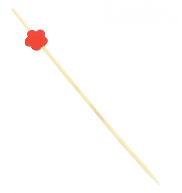 "Pinchos de Madera ""Flor"" Roja 120 mm (200 Uds)"