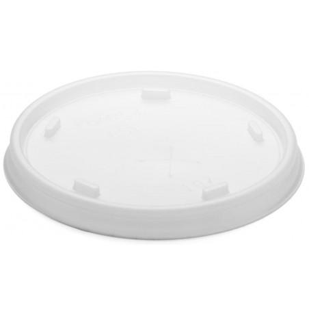Tapa de plastico PS Translúcida con Cruz Ø8,1cm (100 Uds)