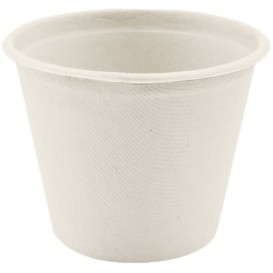 Tarrina de Caña de Azucar Blanca 450ml (50 Uds)