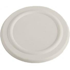 Tapa Tarrina 450ml Caña de Azúcar Blanca Ø110mm (50 Uds)