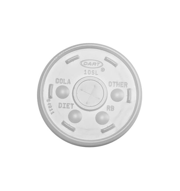 Tapa de Plástico PS Cruz para Vaso FOAM Ø9,4cm (1000 Uds)