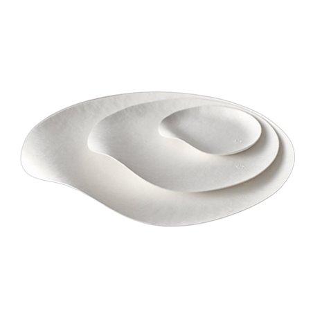 Plato Wasara Blanco Biodegradable Maru S (100 Uds)