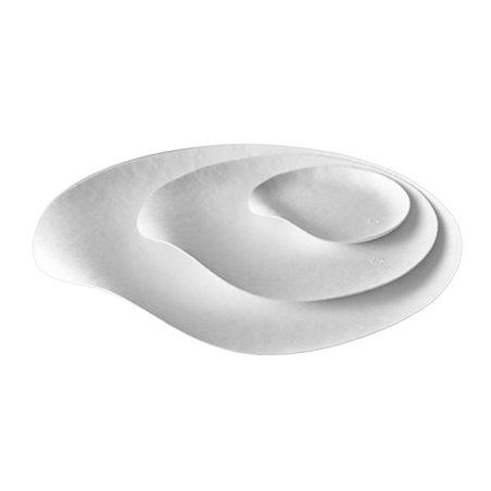 Plato Wasara Blanco Biodegradable Maru M (50 Uds)