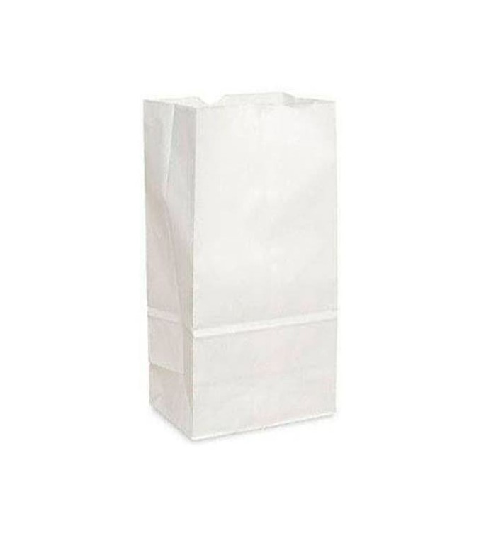 Bolsa de Papel Sin Asas Kraft Blanca 18+11x34cm (25 Uds)