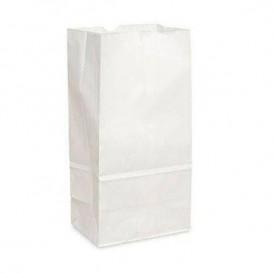 Bolsa de Papel Sin Asas Kraft Blanca 18+11x34cm (500 Uds)