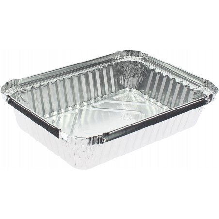 Bandeja Aluminio 6C. 650ml 191x141x33mm (100 Uds)