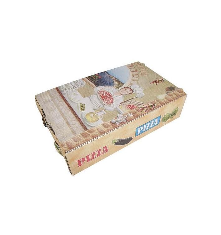 Cajas Pizza Calzone 27x16x7 cm Vegetal (100 Uds)