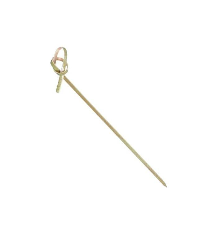 Pinchos de Bambu Decorados Lazo 210 mm (10000 Uds)
