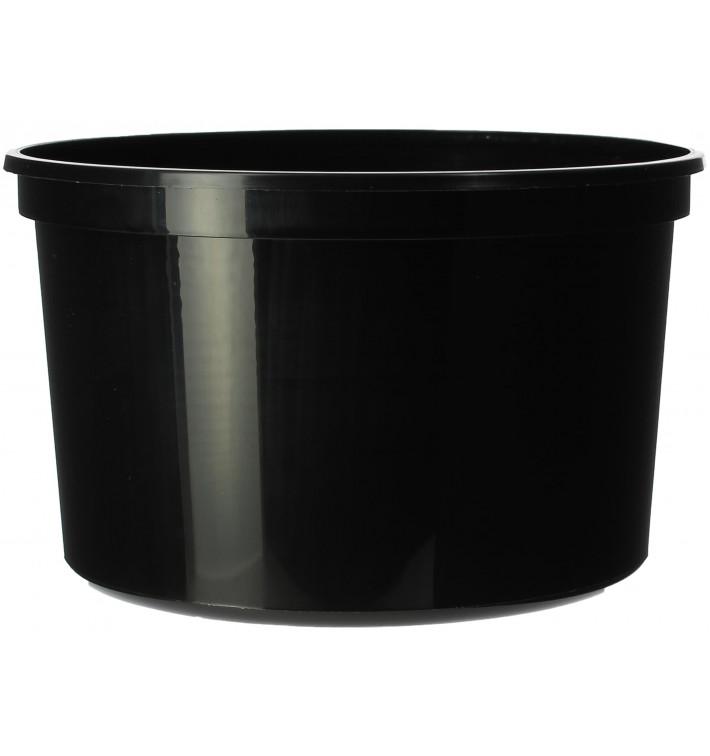 Tarrina de Plastico Negra PP 500ml Ø11,5cm (500 Uds)