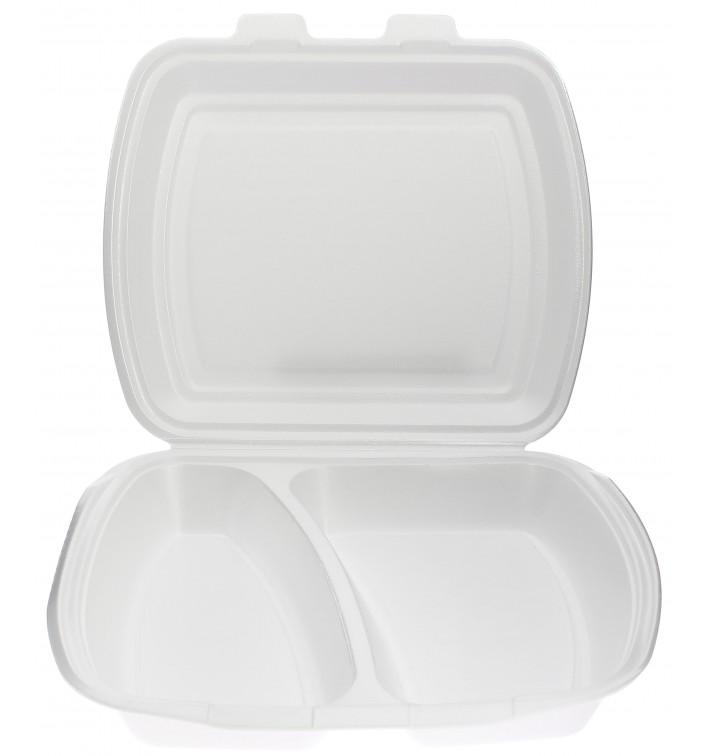 Envase Foam MenuBox 2 C. Blanco 240x210x70mm (250 Uds)