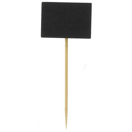 Pinchos de Bambu con Pizarra 90 mm (100 Uds)