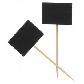 Pinchos de Bambu Decorados Pizarra 90 mm (5000 Uds)