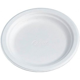 Plato de Cartón Chinet 240mm Blanco (100 Uds)