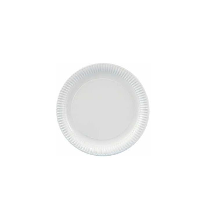 Plato de Carton Redondo Blanco 210mm (800 Uds)