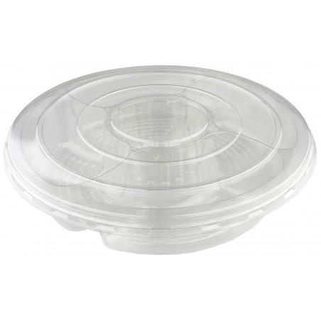 Bol Plástico PET 5C con tapa Ø35x7cm (50 Uds)