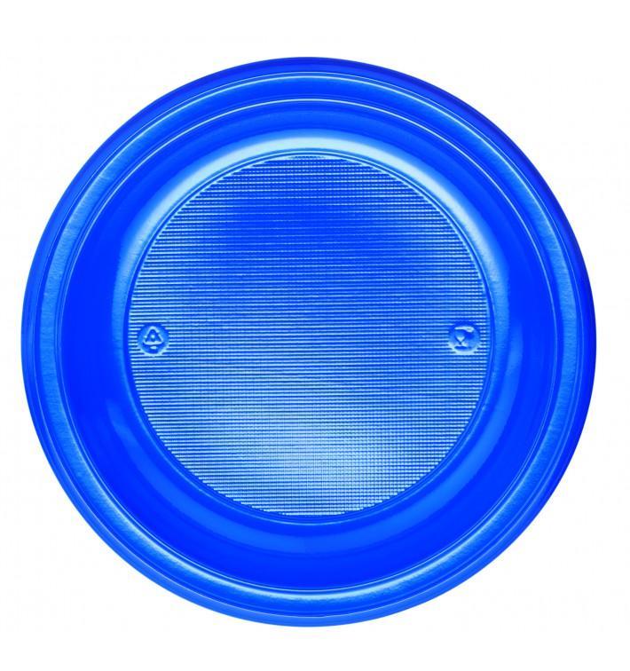 Plato de Plastico PS Llano Azul Oscuro Ø220mm (30 Uds)