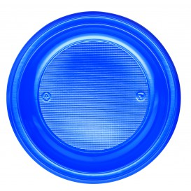 Plato de Plastico Hondo Azul Oscuro PS 220mm (600 Uds)