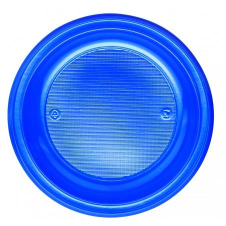Plato de Plastico PS Hondo Azul Oscuro Ø220mm (600 Uds)