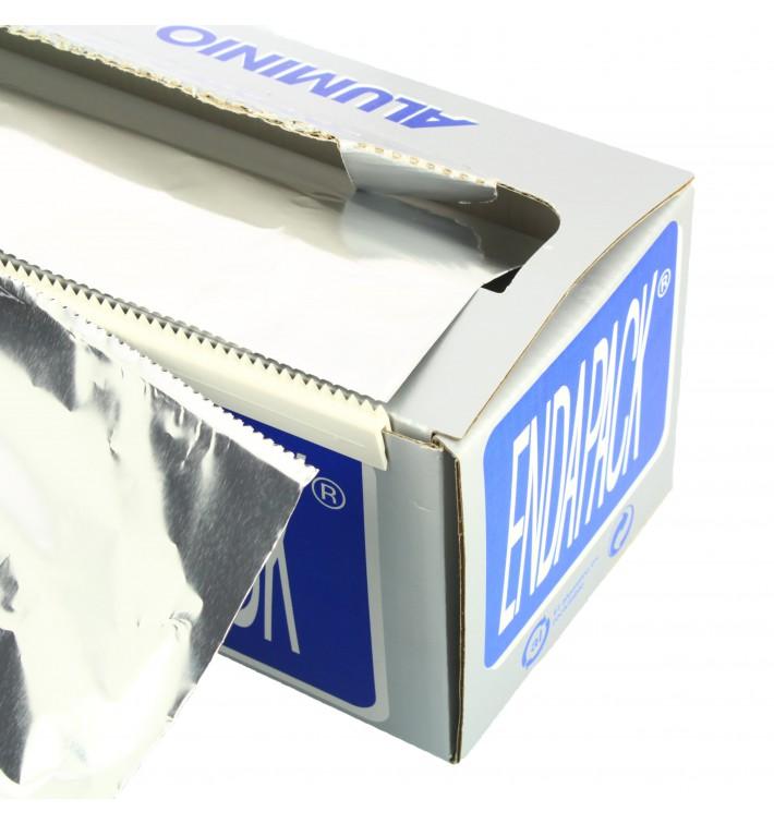 Bobina de Aluminio 40cm x 300m 4Kg en Dispensador (1 Ud)