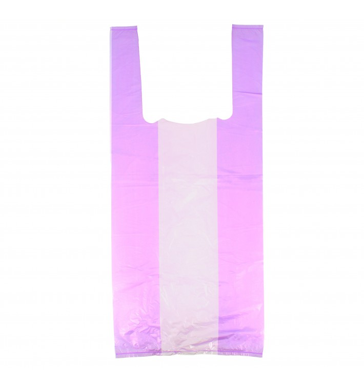 Bolsa Plastico Camiseta 35x50cm Lila (200 Uds)
