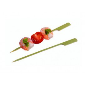 "Pinchos de Bambu ""Golf"" Verde Natural 150mm (5000 Uds)"