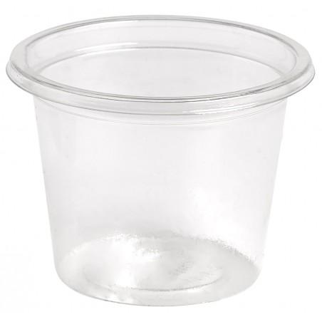 Tarrina para Salsas rPET Cristal 30ml Ø4,5cm (4000 Uds)