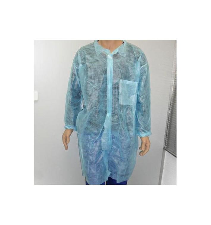 Bata Industria TST PP Con Velcro y Bolsillos Azul XL (100 Uds)