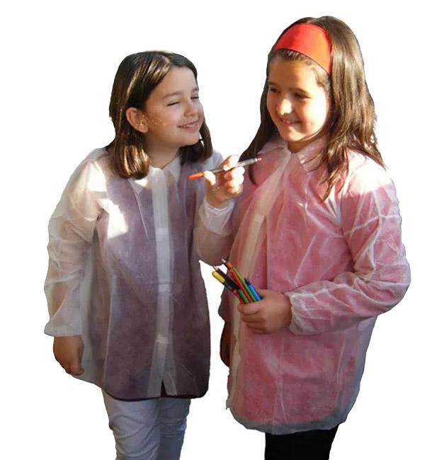 Bata Infantil pp., 35 gr.,c/Velcro y Sin Bolsillos 1 Ud.
