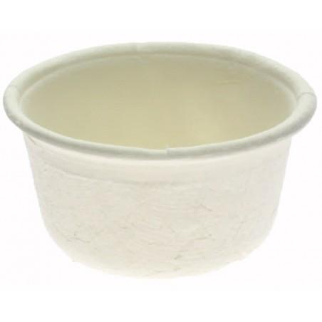Tarrina de Caña de Azucar Blanca Ø6,2cm 60ml (2500 Uds)