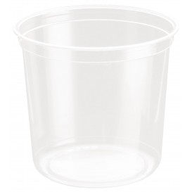 Tarrina de Plastico rPET DeliGourmet 24 Oz/710ml (500 Uds)