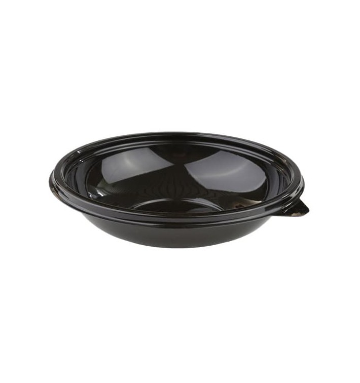 Bol de Plástico Negro PET 250ml Ø140mm (50 Uds)